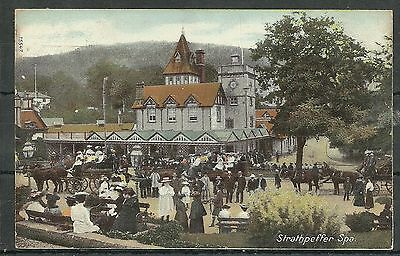 Postcard : Strathpeffer Spa with coaches and horses, posted 1908