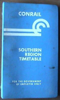 Conrail Railroad: Southern Region Employee Timetable: Effective Oct & Apr 1980