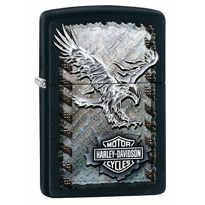 Zippo Harley Davidson Iron Eagle Black Matte Windproof Lighter Brand New