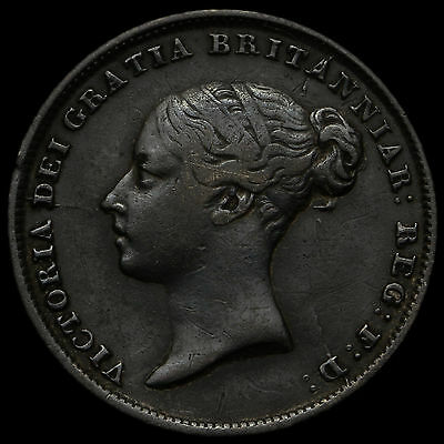 1845 Queen Victoria Young Head Silver Sixpence – Rare