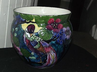 """Rare SIGNED R Dean pottery art deco tubelined  Thomas Foreste r8 1/2"""" x 9 1/4"""""""