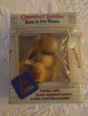 "1997 Cherished Teddies Beta Is For Bears Figurine #306037 2"" Tall NIB"