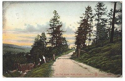 CRIEFF On the Knock Walk, Reliable Series Postcard, Postally Used 1909