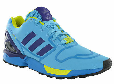 Adidas ZX Flux Trainers Mens Torsion Techfit Running Sport Lace Up Blue Sneakers
