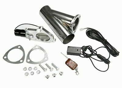 "STAINLESS UNIVERSAL EXHAUST CUTOUT-OUT VALVE E-CUT KIT REMOTE 2"" / 51mm"