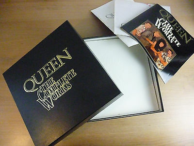 Queen – The Complete Works,  14 LP Box, Poster, 2 Booklets, Vinyl: vg++