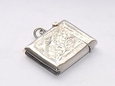 Fine Antique Hallmarked Solid Silver Sterling Silver Vesta Case Birmingham 1921
