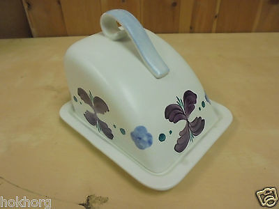 E Radford Hand-Painted Pottery Cheese / Butter Dish C1920S
