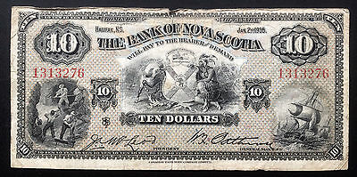 1935 Bank of Nova Scotia $10 - VG