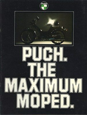 1977 Puch Moped Motorcycle Motorized Bicycle Brochure my8039
