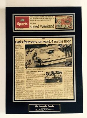 NHRA USA Today Sports Edition The Coughlin Family Dads 4 Sons Autographed Plaque