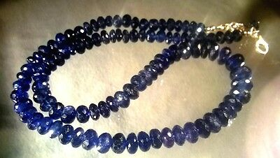 dkd/ 228cts NATURAL Sapphire Beads/Necklace