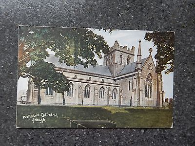 Early Emerald series postcard - Protestant Church Armagh - Northern Ireland