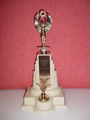 SS UNITED STATES LINES  Large Easter Cruise Trophy, Dated...April 6, 1968