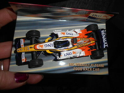 Minichamps Ing Renault F1 Team 2008 Race Car Fernando Alonso 1.43 Scale Boxed