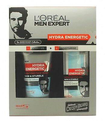 L'oreal Men Expert Hydra Energetic Barber Shop Gift Set 150Ml Face Wash + 50Ml M