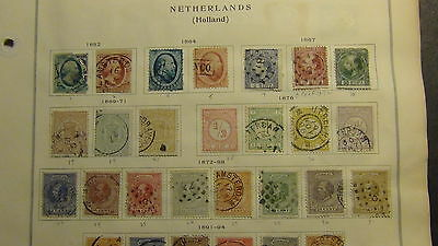 Netherlands stamp collection on Scott International pages to '78 or so