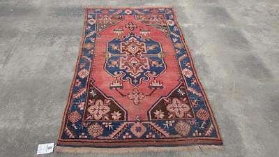 3'5X5'10 hand knotted tribal Persian Rug Vintage Woolen  Oriental Carpet  73