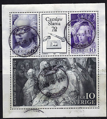 Sweden 1906a (1904-06 Booklet Pane) 1999 Postally Used $13 Slania 70th Birthday