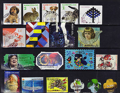 Finland 21 Postally Used Recent Stamps Selection ECV $30