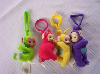 TELETUBBIES MCDONALDS PLUSH CLIP ON dolls¤LAA¤DIPSY¤PO¤TINKY WINKY SET4