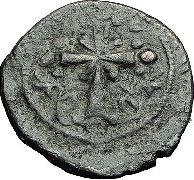 JESUS CHRIST Class I Anonymous Ancient 1078AD Byzantine Follis Coin CROSS i58893