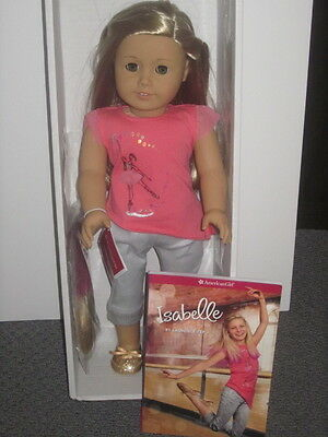 American Girl~ISABELLE 2014 Doll of the Year Doll WITH HIGHLIGHTS & book ~ NIB