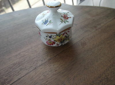 Very Pretty Bone China Pot Hammersley Floral With Restored Gilded Lid