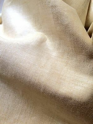 HOLLY HUNT Glazed Linen natural woven 1+ yard new
