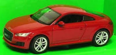 Welly Nex Diecast Model - Red 2014 Audi TT Coupe Car - 1:24 Scale - 24057W - New