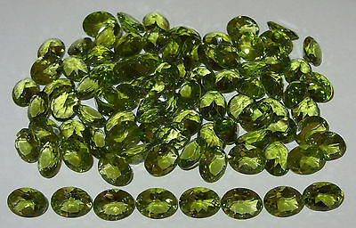 9x7mm Natural Chinese Mongolian Peridot Oval Cut