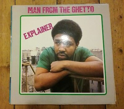 Explainer - Man From The Ghetto Lp Sb/lp05 Sunburst Vg+!