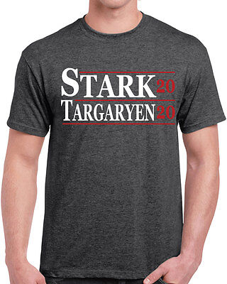 525 Stark Targaryen mens T-shirt 2020 election funny game dragon thrones sigil
