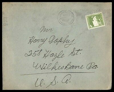 Mayfair Palestine cover Jersalem single franked with slogan cancel 1930s
