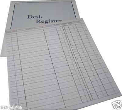 Desk Registers Fits Business and Desk Folders - Set of 6