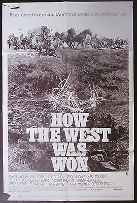 How The West Was Won 1970 John Ford Gregory Peck Debbie Reynolds US Poster