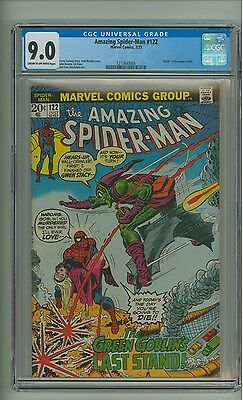 """Amazing Spider-Man 122 (CGC 9.0) C-O/W pages; """"Death"""" of Green Goblin (c#13018)"""