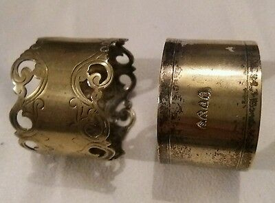 2 X Epns Silver Plate Plated Napkin Rings Holders