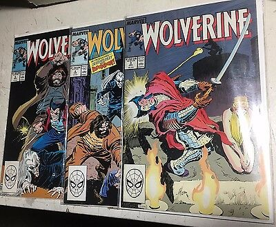 Lot Of 3 Three Wolverine Marvel Comic Books #3 #4 #6