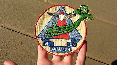 ORIGINAL Vietnam US ARMY 61st Aviation Company Patch Theater Made SSI INSIGNIA