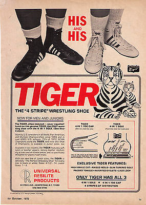 """1972 Vintage Onitsuka Tiger 'His And His"""" Wrestling Shoe Prnt  Advertisement"""