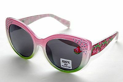 SHOPKINS STRAWBERRY KISS Girls Pink 100% UV Shatter Resistant Sunglasses NWT