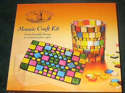 Mosaic Craft Kit From Box House Of Crafts - Gift Set - New And Sealed