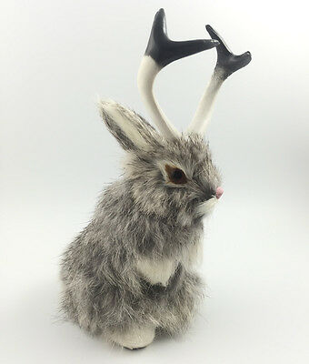 JACKALOPE RABBIT Fake Fur FURRY ANIMAL TAXIDERMY REPLICA For Good Collect