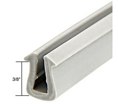 "Glazing Vinyl 3/8"" Channel Depth 11/32"" to 3/8"" Metal Opening - 1000' Roll"