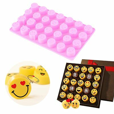 Lovely 28 Face Expressions Chocolate Silicone Mould Kitchen Food Baking Tools AU