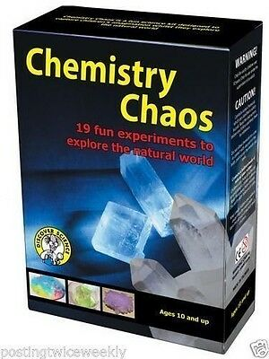 Scyance Chemistry Chaos - 19 Fun & Interesting Science Experiments Set NEW Kit