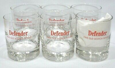 DEFENDER SCOTCH WHISKY 6 Verres tumbler grand diamètre 25 cl NEUF
