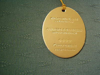 2014 Cheltenham Gold Cup Numbered Gold Owners & Trainers Horse Racing Badge
