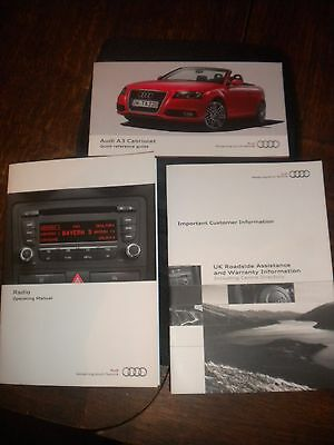 Audi A3 Cabriolet Owners Handbook 2011 Wallet Guide